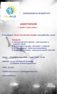 Warsztaty Asertywnosc 25 pazdz 2016